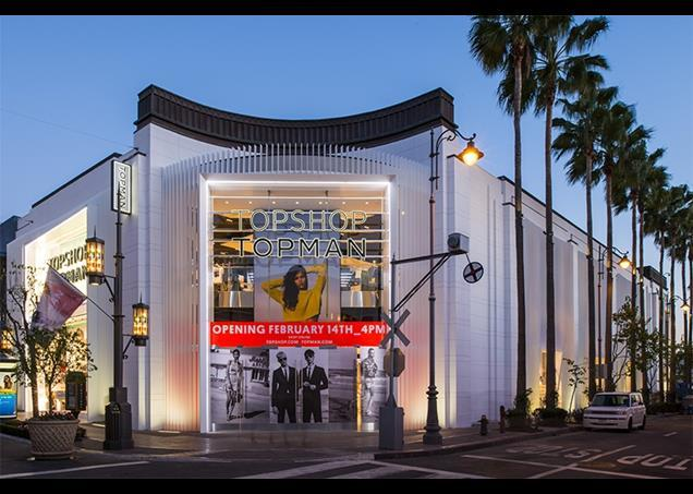 Topshop opens the door to its LA flagship
